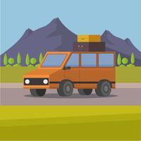 voyage en voiture vecteur