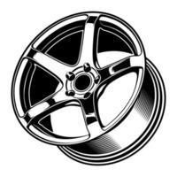 illustration de roue de voiture pour la conception conceptuelle vecteur