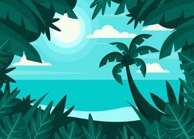 Paysage de plage tropicale vecteur
