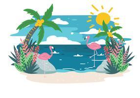 Vecteur de paysage tropical