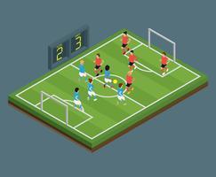 Football isométrique vecteur
