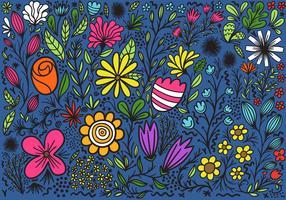 fond floral coloré vecteur
