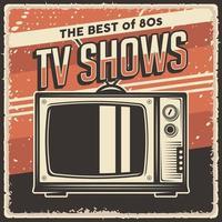 affiche de télévision vintage rétro vecteur