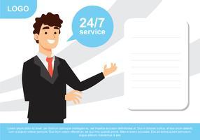 Affiche du service à la clientèle vecteur