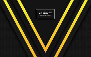 conception présentation fond jaune et noir vecteur