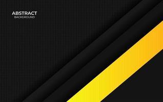 présentation de fond design jaune et noir vecteur