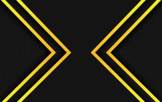 backgroun présentation design jaune et noir vecteur