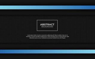 conception de fond abstrait bleu et noir moderne vecteur