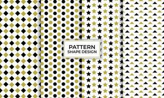 ensemble de motifs sans soudure de forme géométrique, papier peint décoratif. vecteur