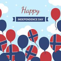 Vecteur de la fête de l'indépendance de la Norvège