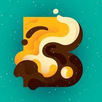 typographie de la lettre B vecteur