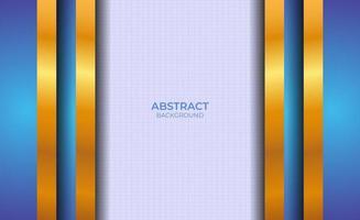 présentation abstraite de fond bleu et or vecteur