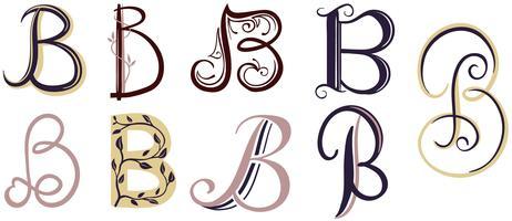 B lettres 2 vecteurs vecteur