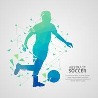 Vecteur de joueur de football abstrait