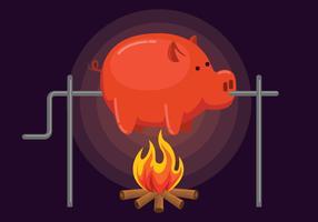 Illustration de rôti de porc vecteur