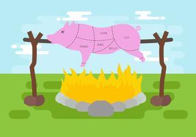 Illustration vectorielle de porc rôti vecteur