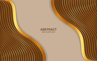 conception abstraite de fond marron et or vecteur