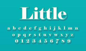 effet de texte petit alphabet de police vecteur