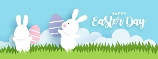 bannière et fond de jour de Pâques.