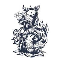 illustration d & # 39; illustration encrage de monstre