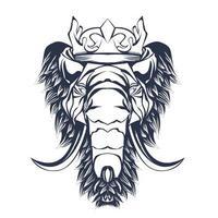 illustration d 39 éléphant religieux encrage vecteur