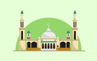 bâtiment de la mosquée avec le vecteur de deux tours