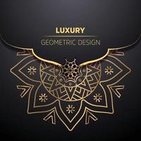 conception de mandala ornemental de luxe vecteur