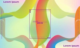 motif de couleur fluide abstrait de fond dégradé liquide de couleur néon vecteur