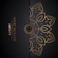 mandala de style arabesque ethnique vecteur