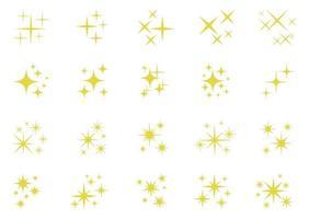 étoiles de vacances scintillantes, étincelles scintillantes et éléments scintillants - illustration vecteur