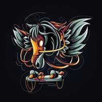 illustration de l'oeuvre de Pegasus vecteur