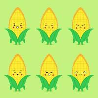 maïs mignon avec divers ensembles d'expression vecteur