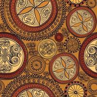 motif géométrique floral s & # 39; épanouir carrelé origine ethnique orientale. vecteur
