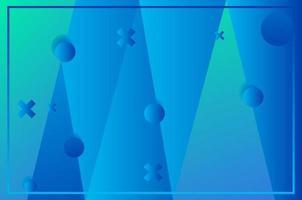 fond géométrique bleu. composition de forme fluide. vecteur