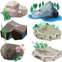 ensemble de roche et de pierre