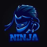 illustration d & # 39; illustration de ninja bleu vecteur