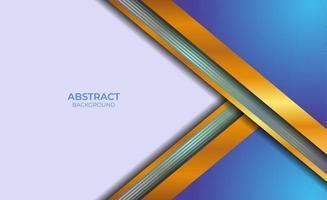 conception abstraite moderne bleu et or vecteur