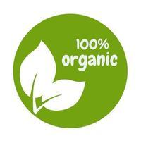 conception de vecteur eco feuille logo bio label isolé sur fond blanc