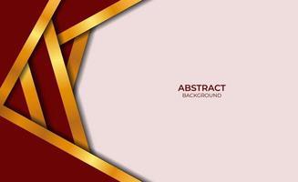 conception abstraite de style rouge et or vecteur