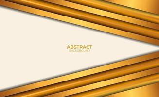 style de conception abstrait marron et or de fond vecteur