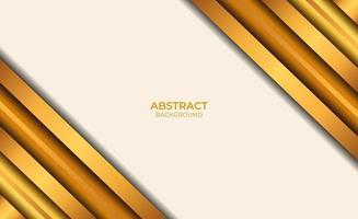 conception de style abstrait marron et or vecteur