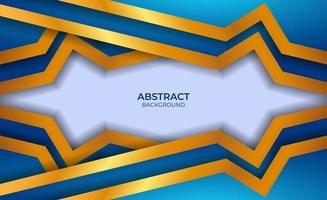 conception abstraite de luxe bleu et or