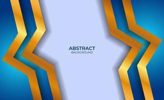 conception abstraite de fond bleu et or
