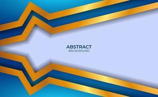 style abstrait bleu et or de luxe