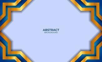 conception abstraite fond bleu et or