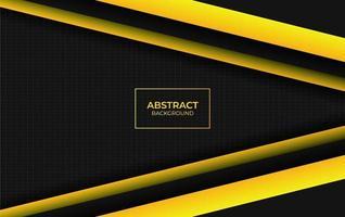 design abstrait moderne jaune et noir vecteur