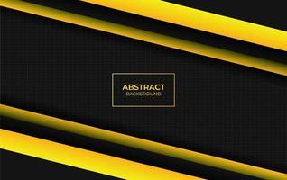 style de design moderne abstrait jaune et noir vecteur