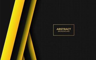 style abstrait moderne jaune et noir vecteur