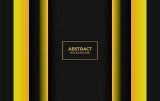style abstrait fond jaune et noir vecteur