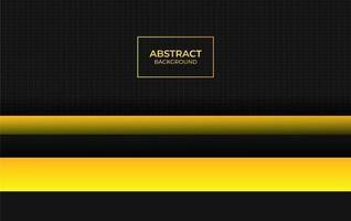 design abstrait jaune et noir vecteur